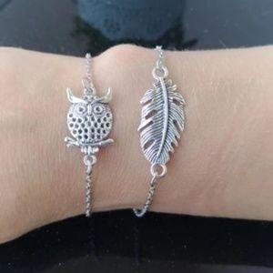 Owl Boho Bracelet Adjustable Layering